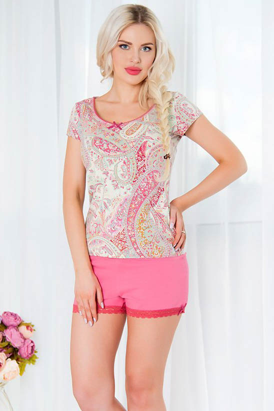 Пижамы Mia Cara Пижама Paisley Цвет: Розовый (M-L) пижамы mia cara пижама paisley цвет розовый m l
