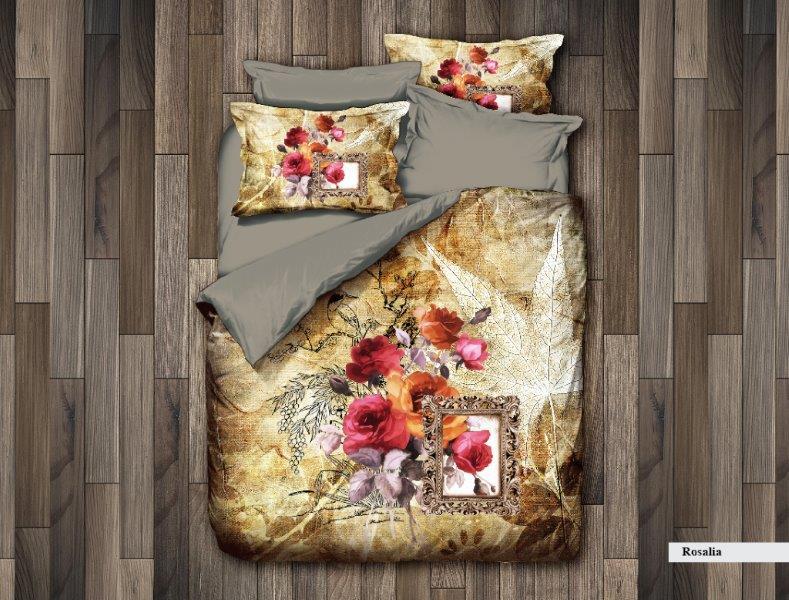 Постельное белье DO'n'CO Постельное белье Rosalia (2 сп. евро) постельное белье bovi постельное белье крокодил цвет шоколад 2 сп евро
