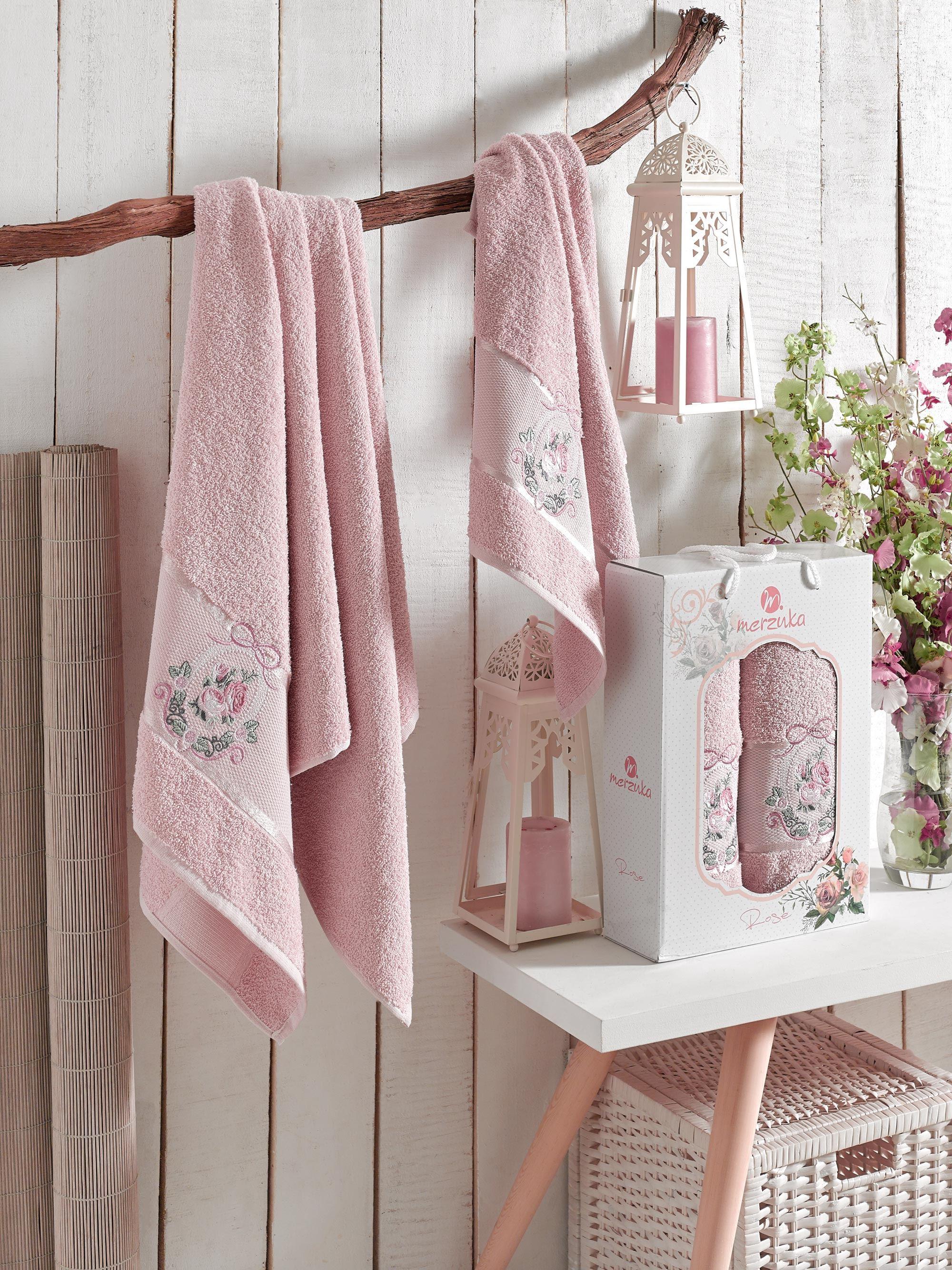 Полотенца Oran Merzuka Полотенце Rose Цвет: Розовый (50х80 см,70х130 см) набор из 3 полотенец merzuka sakura 50х90 2 70х140 8432 оранжевый