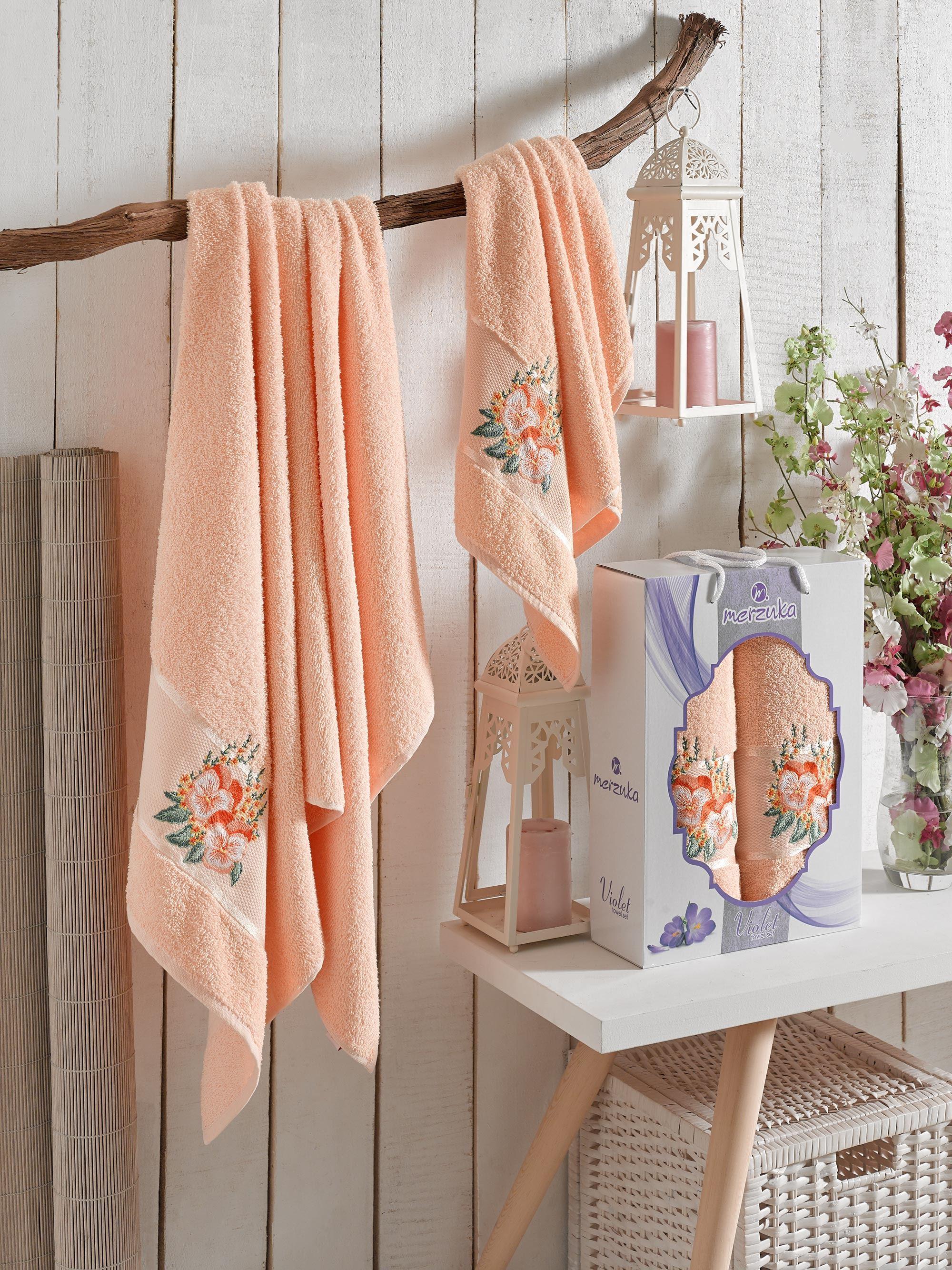 Полотенца Oran Merzuka Полотенце Violet Цвет: Оранжевый (50х80 см,70х130 см) полотенца oran merzuka полотенце daisy цвет сиреневый 50х80 см 2 шт 70х130 см
