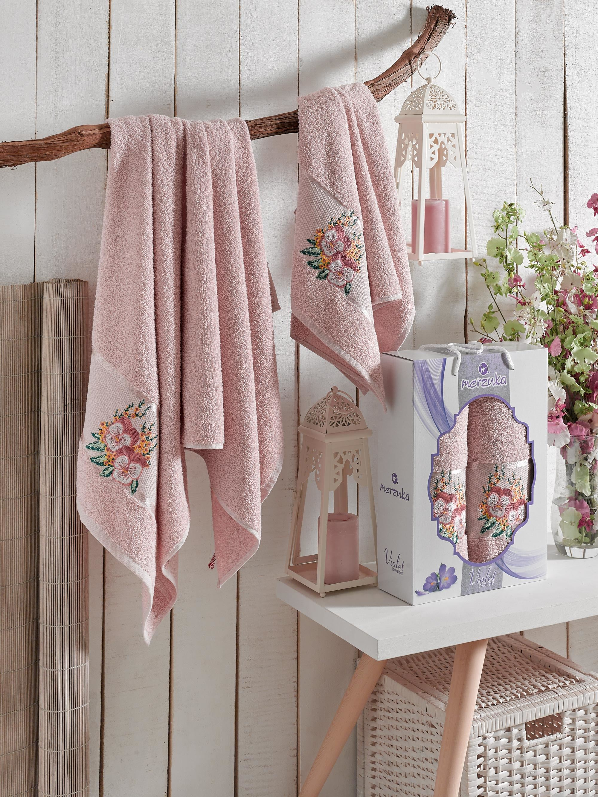 Полотенца Oran Merzuka Полотенце Violet Цвет: Розовый (50х80 см,70х130 см) полотенца oran merzuka полотенце daisy цвет сиреневый 50х80 см 2 шт 70х130 см