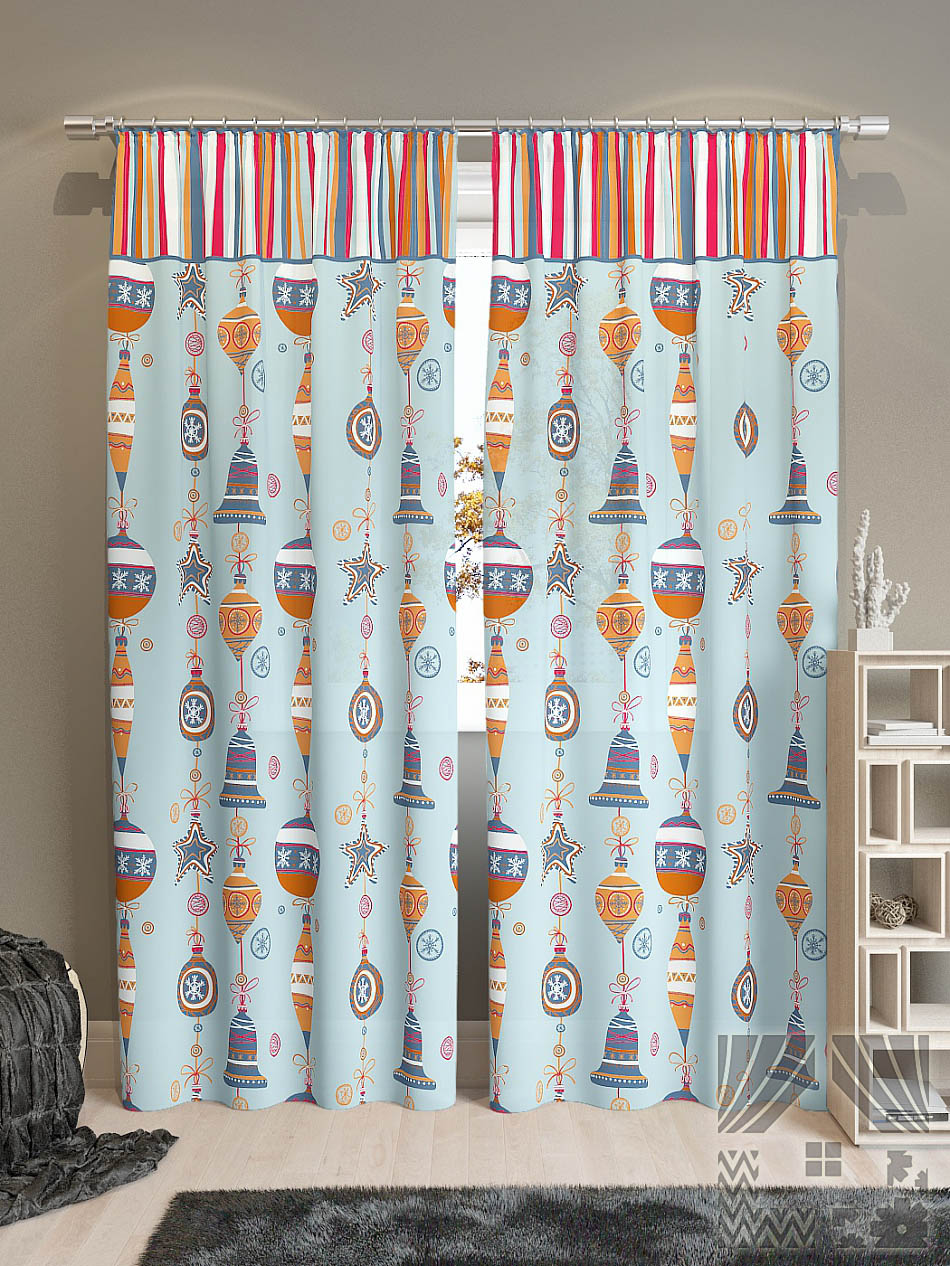 Шторы ТомДом Классические шторы Лакона-К Цвет: Голубой шторы tac классические шторы winx цвет персиковый 200x265 см
