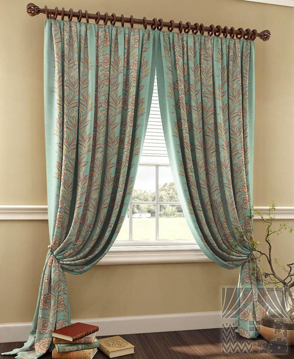 Шторы ТомДом Классические шторы Талмио Цвет: Бирюзовый шторы томдом классические шторы керид цвет бирюзовый