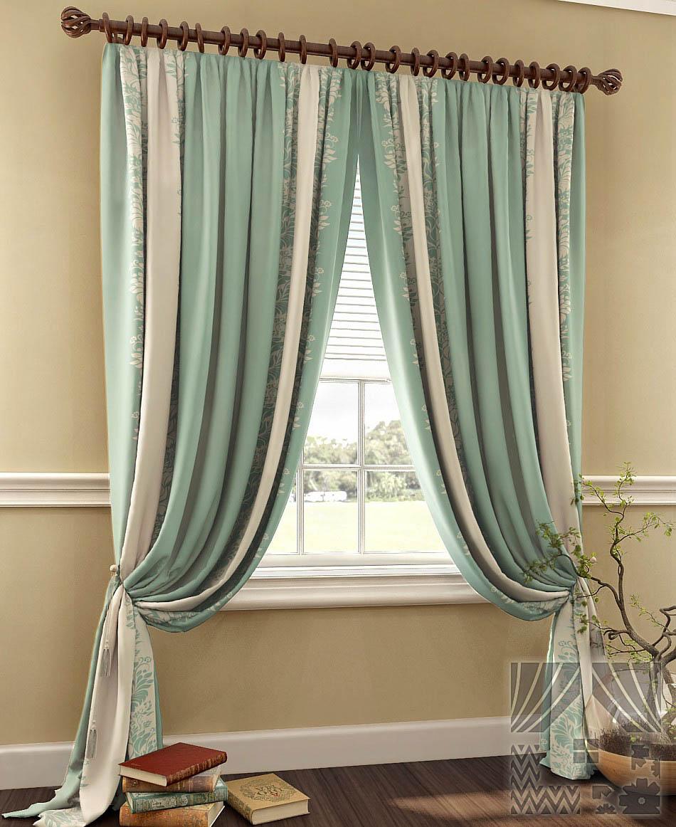 Шторы ТомДом Классические шторы Керид Цвет: Бирюзовый шторы tac классические шторы winx цвет персиковый 200x265 см