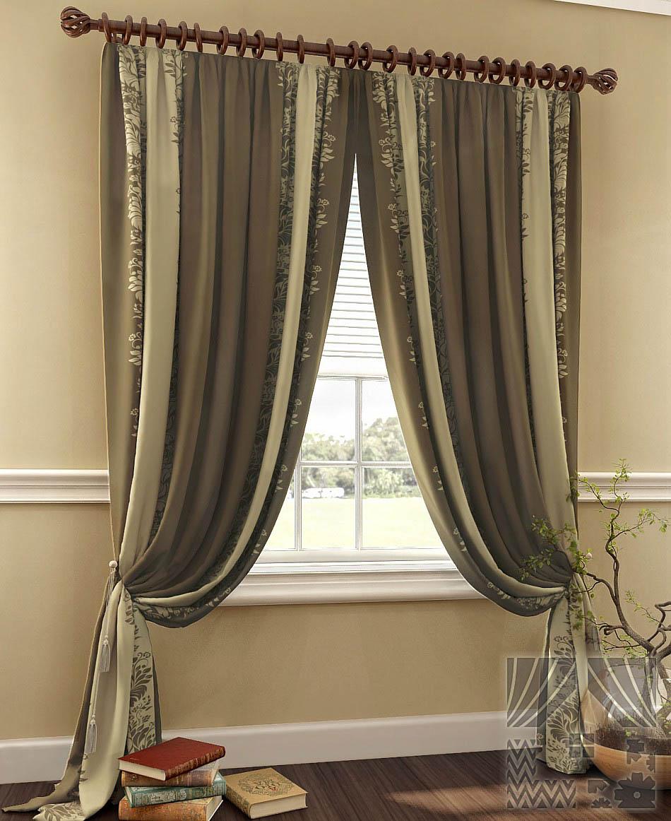 Шторы ТомДом Классические шторы Керид Цвет: Коричневый шторы томдом классические шторы керид цвет бирюзовый