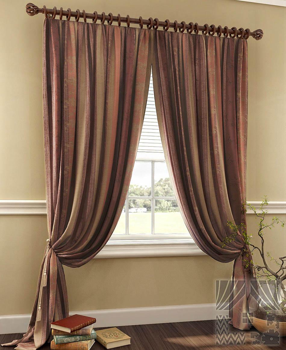 Шторы ТомДом Классические шторы Гурий Цвет: Бордовый шторы tac классические шторы winx цвет персиковый 200x265 см