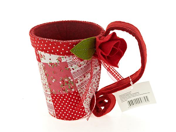 {} ENS GROUP Интерьерная игрушка Алая Роза (11х16х18) ens group подставка для зубных щеток садовая роза 6х6х11 см