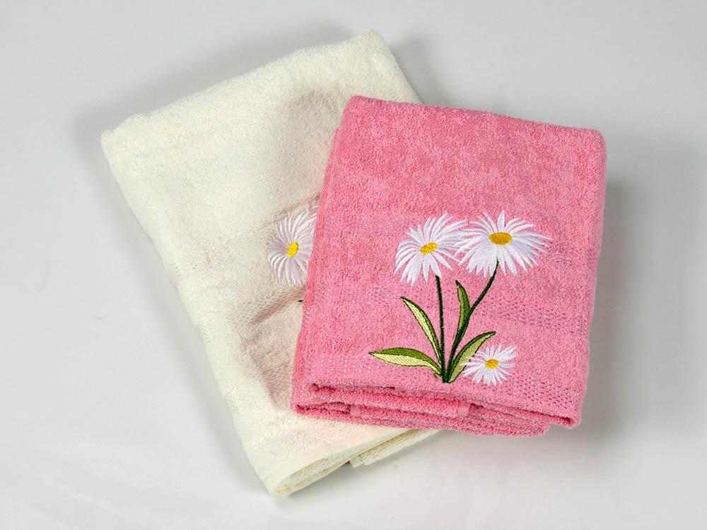 Полотенца Cottonist Полотенце Ромашка Цвет: Кремовый,Розовый (Набор) набор из 3 полотенец merzuka sakura 50х90 2 70х140 8432 терракотовый
