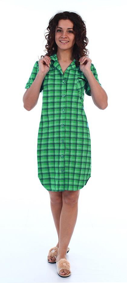 Домашние халаты Серенада Халат-рубашка Феличита Цвет: Ментоловый (M)