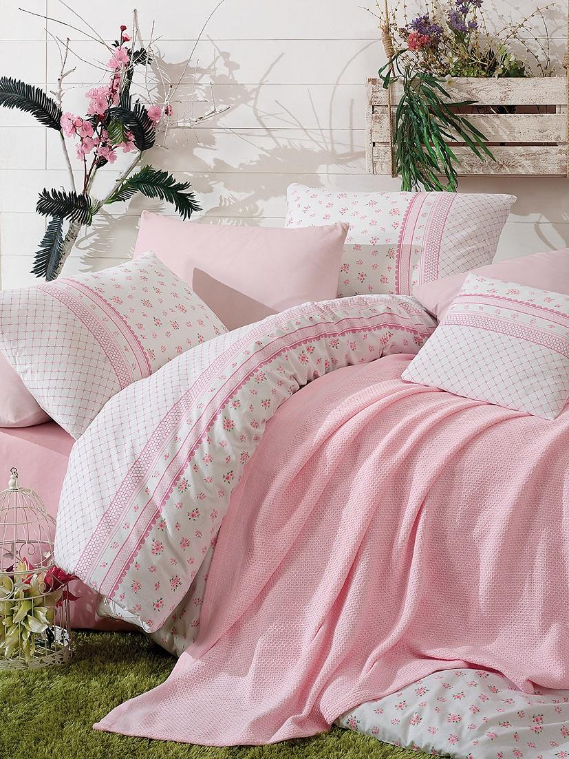{} Istanbul Постельное белье с покрывалом-пледом Florida Цвет: Розовый (2 сп. евро) patriot h150 florida 2 шт