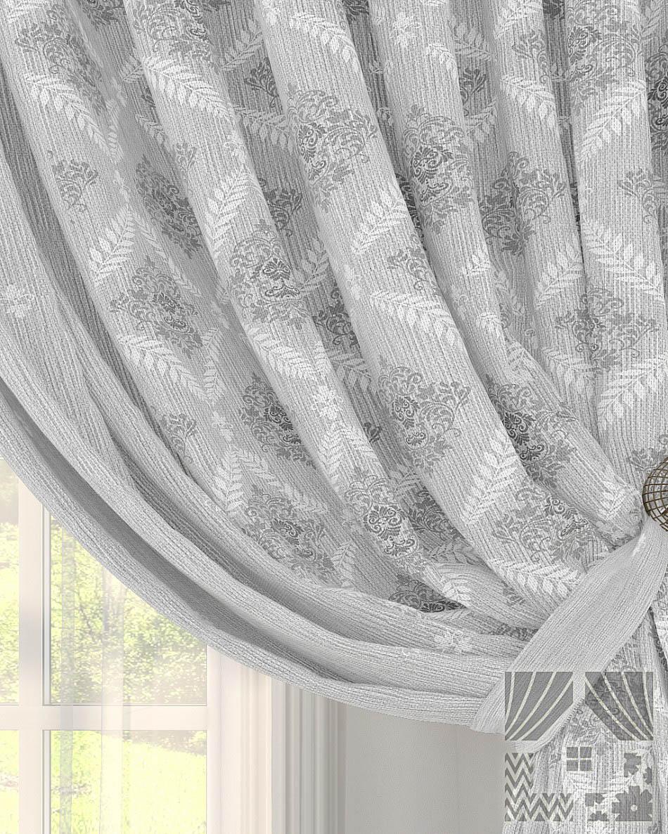 Шторы ТомДом Классические шторы Анхор Цвет: Серый