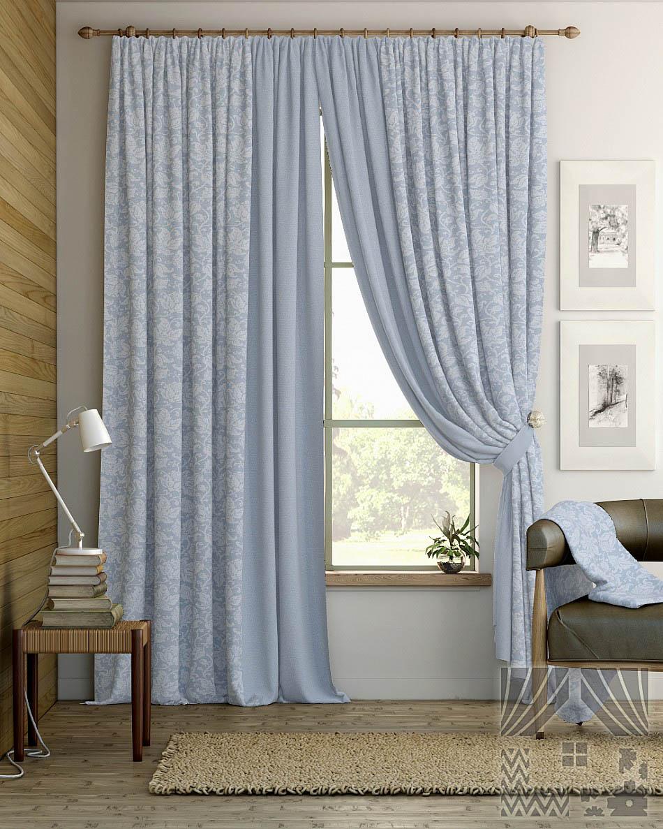 Шторы ТомДом Классические шторы Ронга Цвет: Голубой