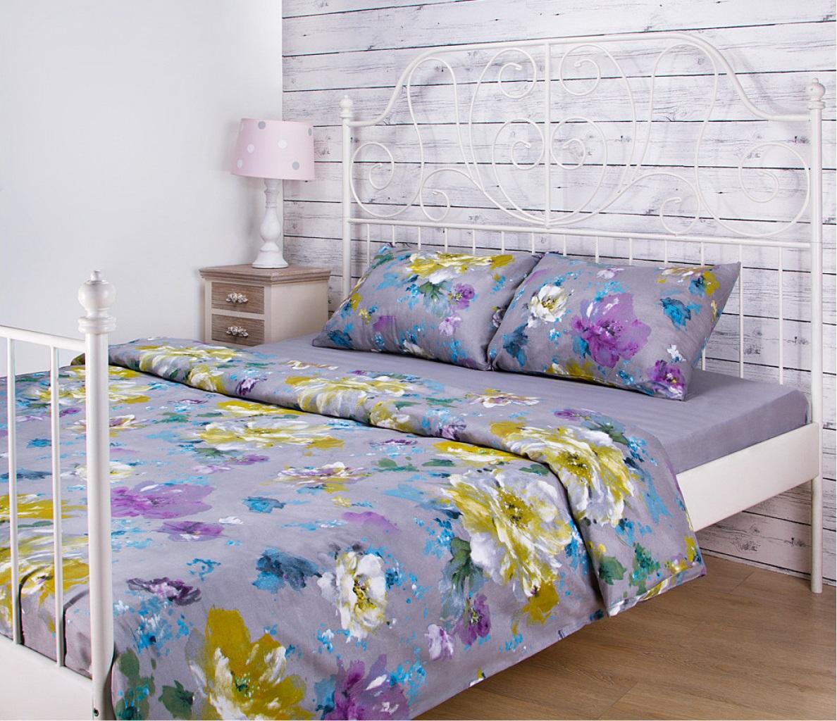 Постельное белье Santalino Постельное белье Цветы Цвет: Серый (2 спал.)