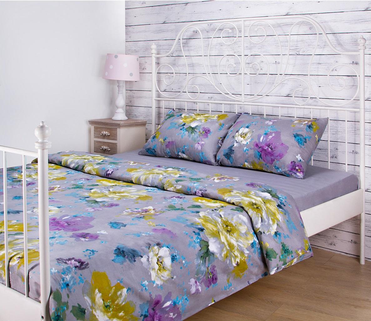 Постельное белье Santalino Постельное белье Цветы Цвет: Серый (семейное) постельное белье семейное весенние цветы сирень постельное белье семейное весенние цветы