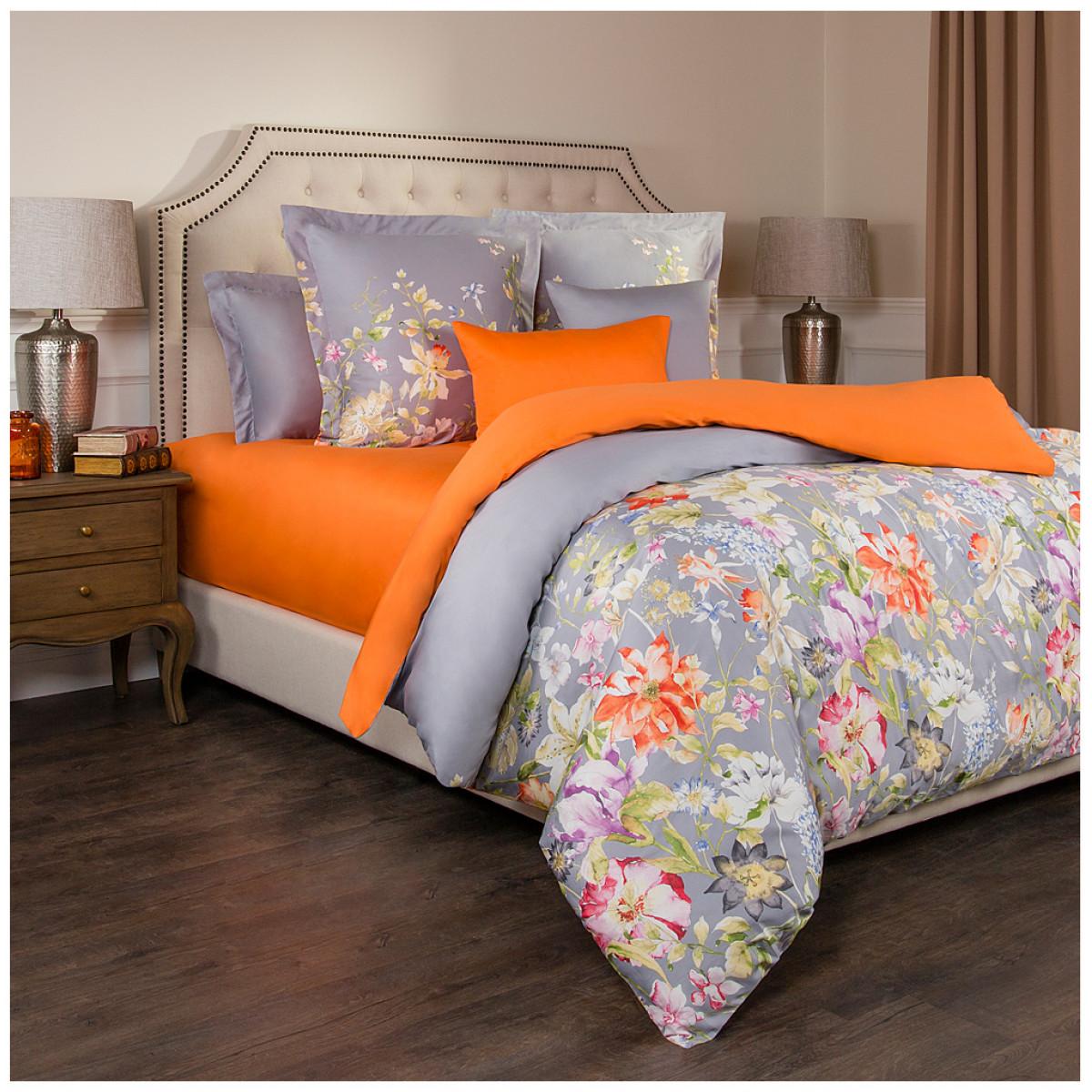 Постельное белье Santalino Постельное белье Пастораль Цвет: Оранжевый-Серый (2 спал.)