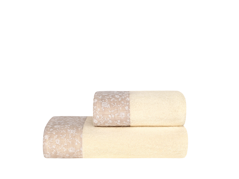 Полотенца ESTIA Полотенце Селина Цвет: Экрю (70х140 см)