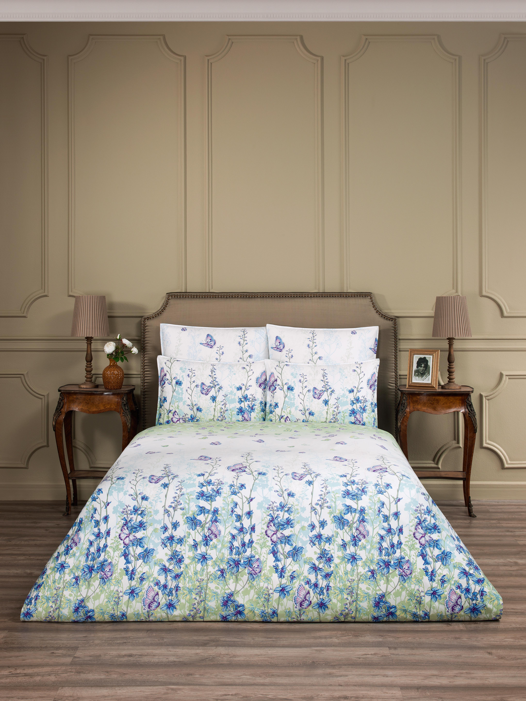 где купить Постельное белье ESTIA Постельное белье Николь Цвет: Светло-Голубой (1,5 спал.) по лучшей цене