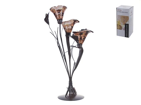 {} ENS GROUP Подсвечник Шоколадное Пралине (25х25х47 см) подставка под ложку ens group чайная роза