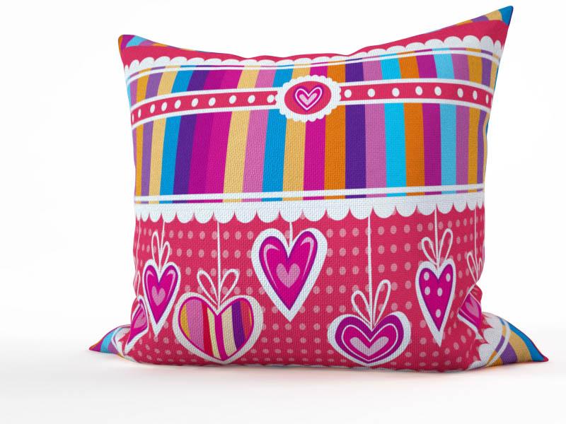 Декоративные подушки StickButik Декоративная подушка Розовая Полосатость (45х45)