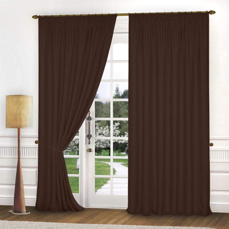 Шторы Elegante Классические шторы Спокойствие Цвет: Темно-Коричневый шторы tac классические шторы winx цвет персиковый 200x265 см