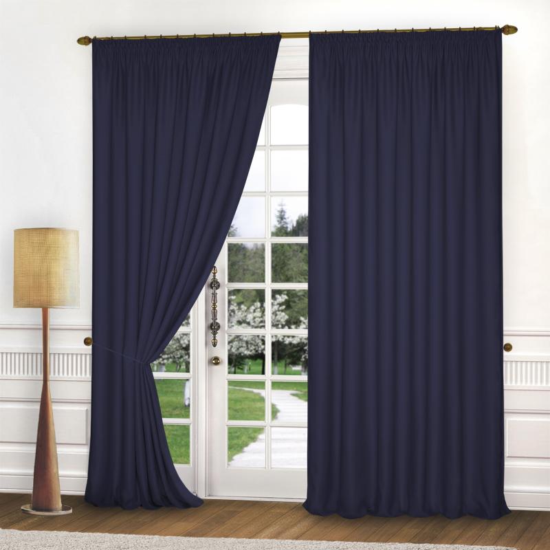 Шторы Elegante Классические шторы Спокойствие Цвет: Темно-Синий шторы tac классические шторы winx цвет персиковый 200x265 см