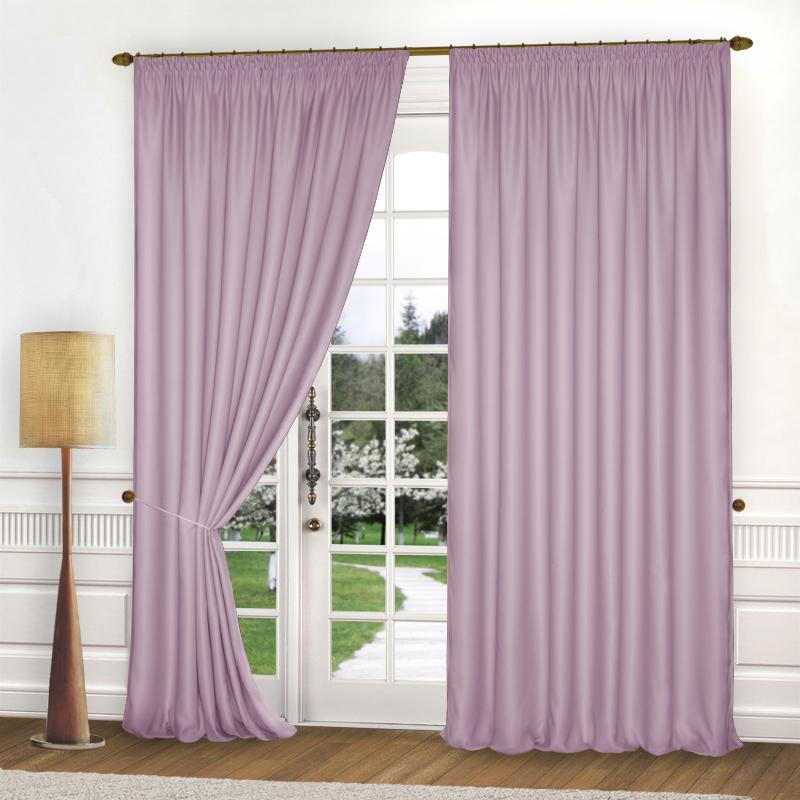 Шторы Elegante Классические шторы Спокойствие Цвет: Сиреневый шторы tac классические шторы winx цвет персиковый 200x265 см