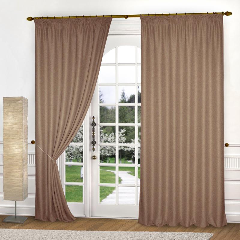 Шторы Elegante Классические шторы Эко-Стиль Цвет: Коричневый шторы tac классические шторы winx цвет персиковый 200x265 см