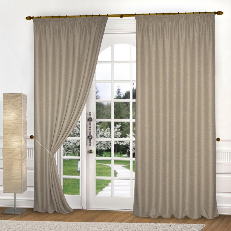 Шторы Elegante Классические шторы Эко-Стиль Цвет: Бежевый