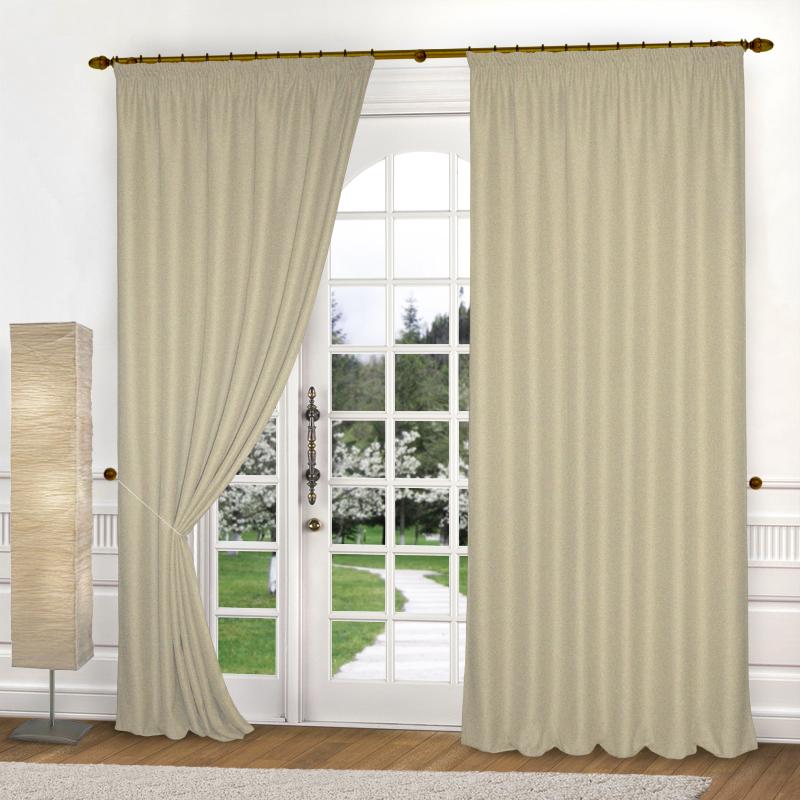 Шторы Elegante Классические шторы Эко-Стиль Цвет: Соломенный шторы tac классические шторы winx цвет персиковый 200x265 см