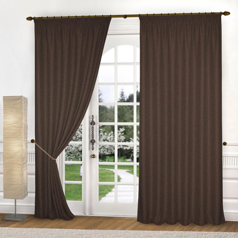Шторы Elegante Классические шторы Amber Цвет: Шоколадный шторы primavera классические шторы maev цвет персиковый