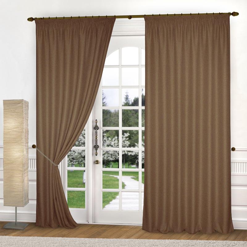 Шторы Elegante Классические шторы Amber Цвет: Коричневый шторы tac классические шторы winx цвет персиковый 200x265 см