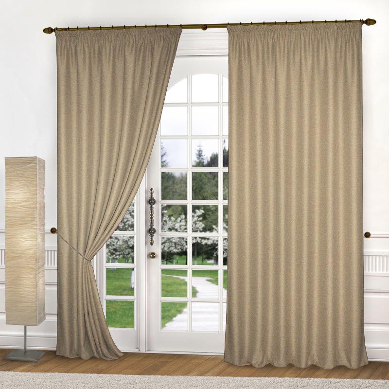 Шторы Elegante Классические шторы Amber Цвет: Бежевый шторы tac классические шторы winx цвет персиковый 200x265 см