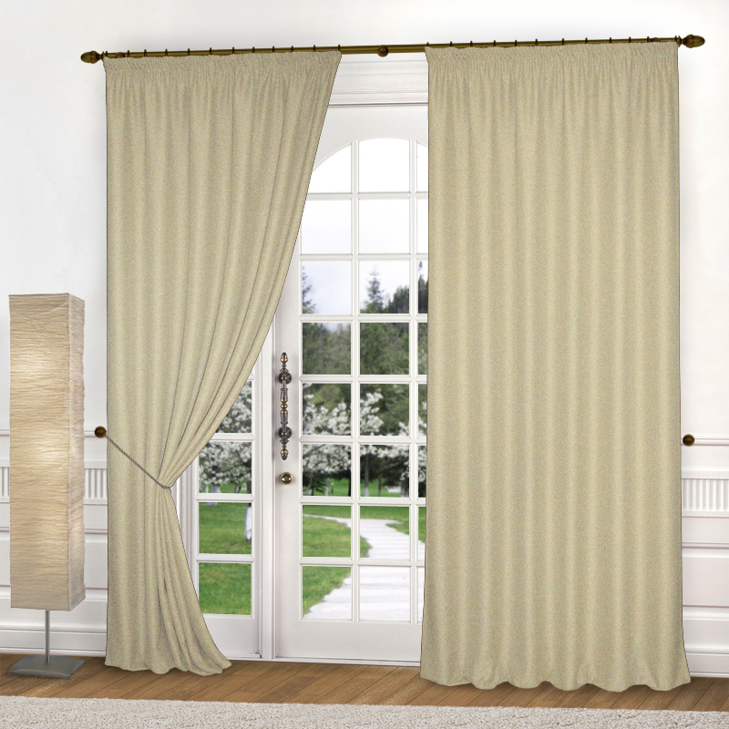 Шторы Elegante Классические шторы Amber Цвет: Кремовый шторы tac классические шторы winx цвет персиковый 200x265 см