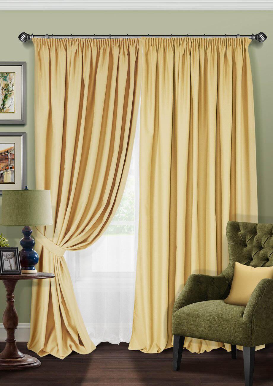 Шторы Kauffort Классические шторы Angie Цвет: Горчичный шторы tac классические шторы winx цвет персиковый 200x265 см