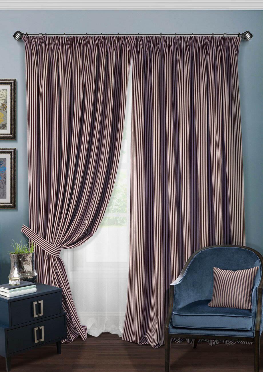 Шторы Kauffort Классические шторы Mauld Цвет: Фиолетовый, Сиреневый шторы tac классические шторы winx цвет персиковый 200x265 см