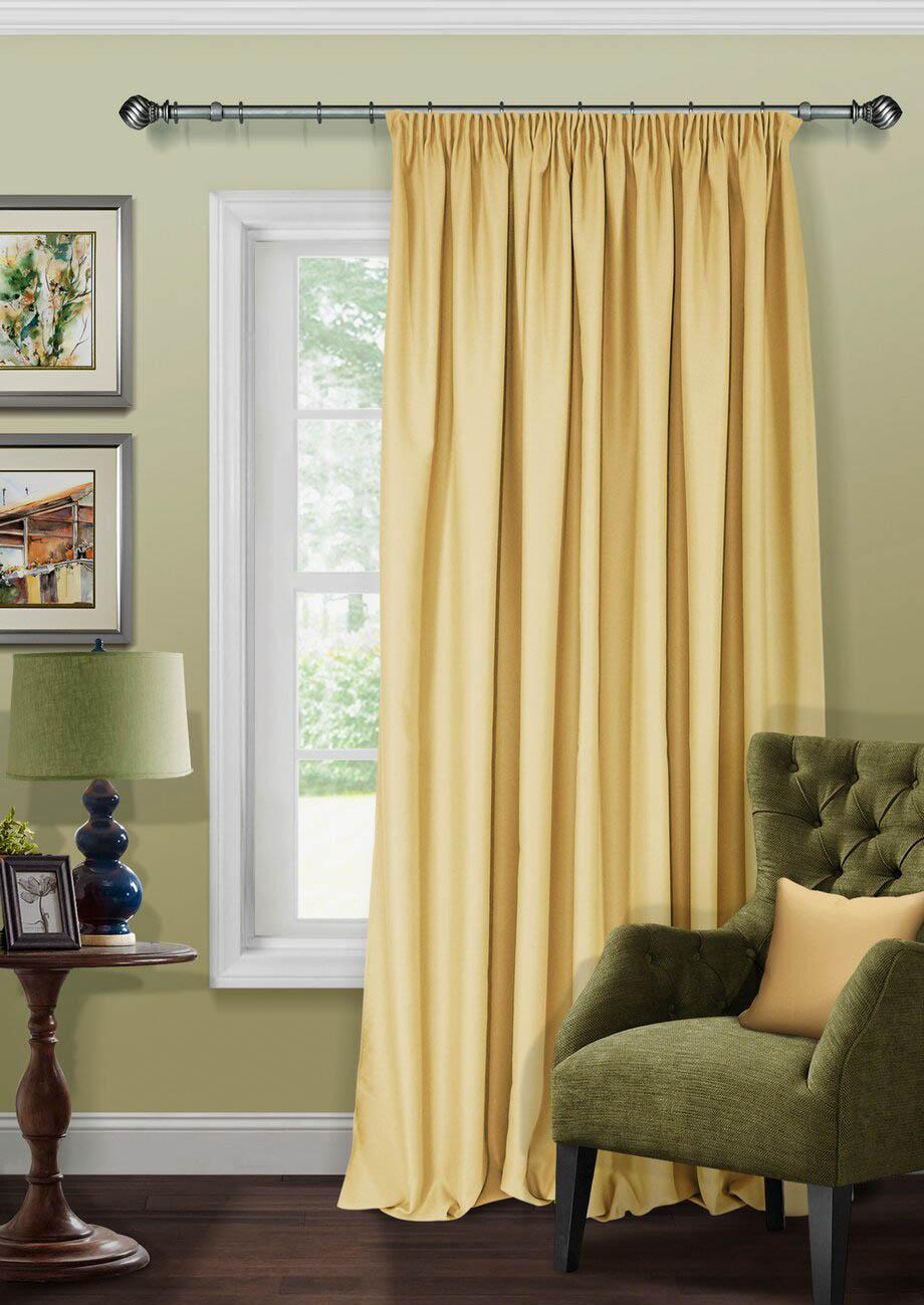 Шторы Kauffort Классические шторы Angie Цвет: Горчичный шторы kauffort классические шторы barolo