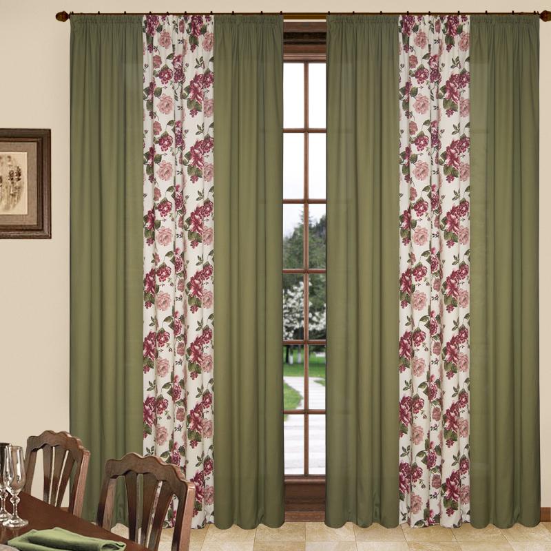 Шторы Elegante Классические шторы Havana Цвет: Бордовый шторы tac классические шторы winx цвет персиковый 200x265 см