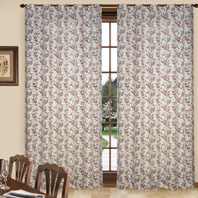 Шторы Elegante Классические шторы Цветочный Узор Цвет: Серый шторы primavera классические шторы maev цвет персиковый