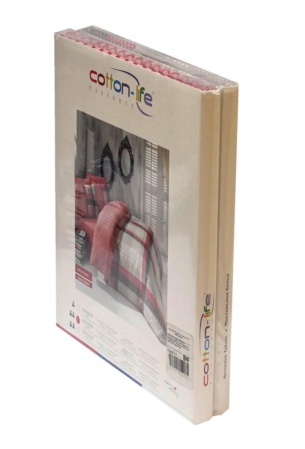 где купить Постельное белье Cotton Life Постельное белье Karambol Цвет: Бирюзовый (2 сп. евро) по лучшей цене