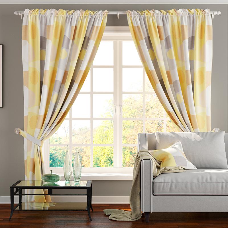 Шторы PASIONARIA Классические шторы Флаббер Цвет: Желтый шторы tac классические шторы winx цвет персиковый 200x265 см
