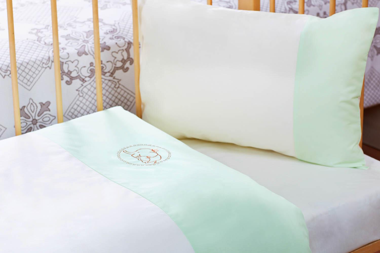 Детское Постельное белье Primavelle Детское Постельное белье Felia Цвет: Бежевый+Зеленый (60х120 см)