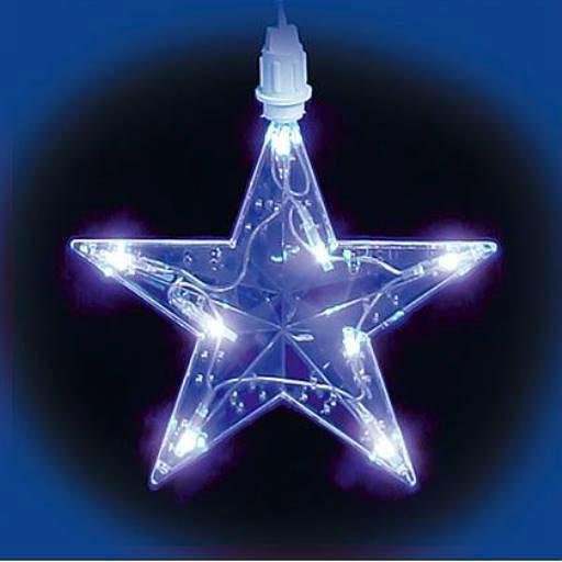 {}  Светодиодная гирлянда Дождь-Звезды Цвет: Синий новогодняя гирлянда lunten ranta цвет фуксия длина 2 м 65517