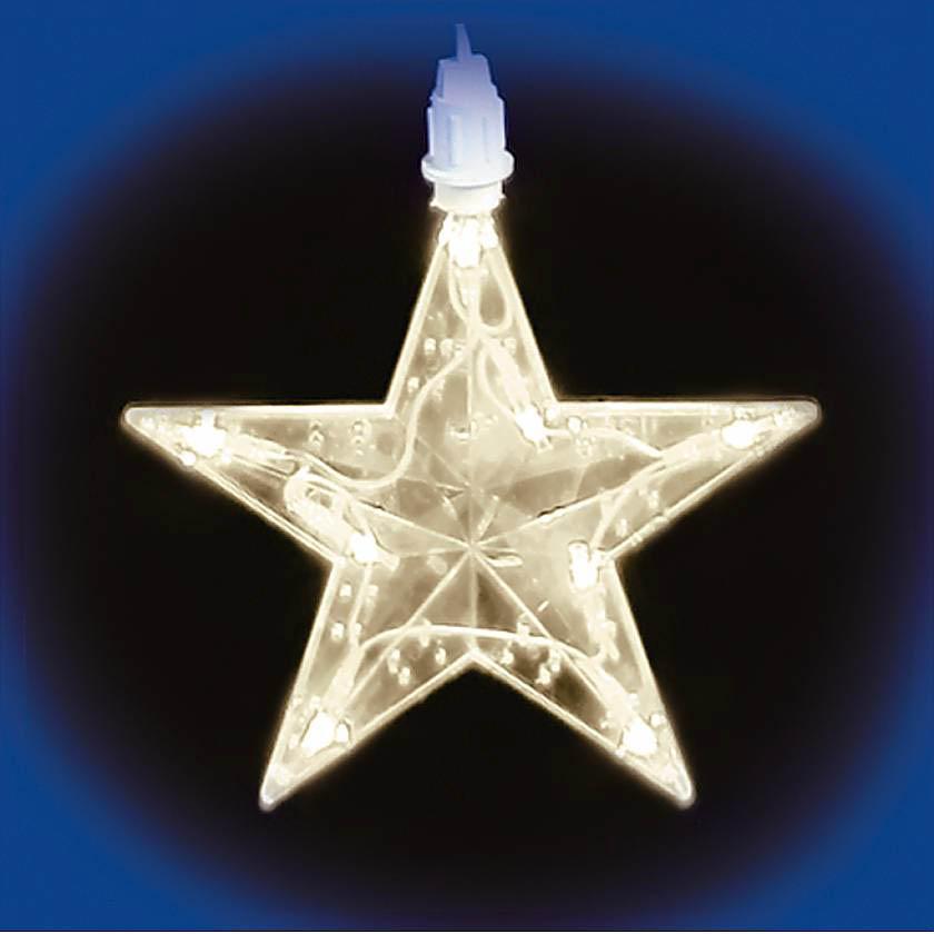 {}  Светодиодная гирлянда Дождь-Звезды Цвет: Белый новогодняя гирлянда lunten ranta цвет фуксия длина 2 м 65517