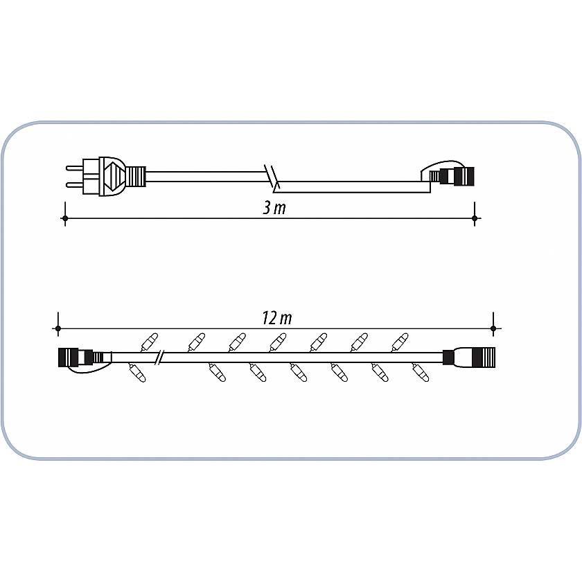 {}  Светодиодная гирлянда Jewel гирлянда электрическая lunten ranta сосулька 20 светодиодов длина 2 85 м