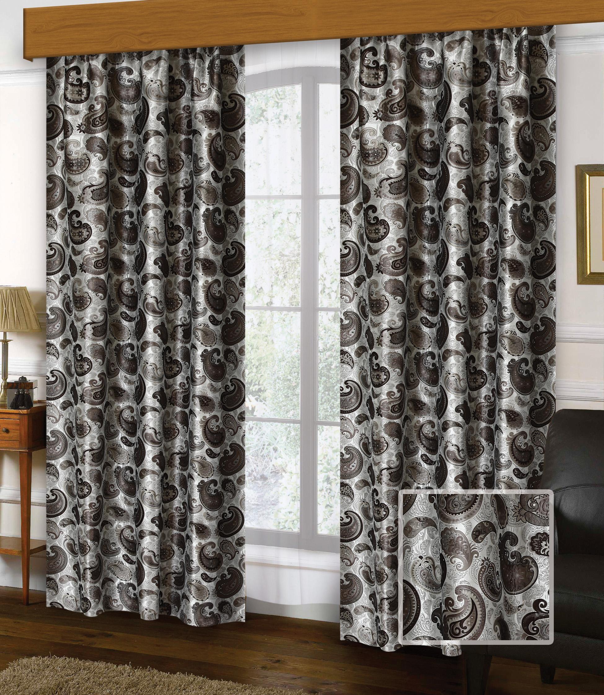 Шторы Miranda Классические шторы Восток Цвет: Коричневый шторы tac классические шторы winx цвет персиковый 200x265 см