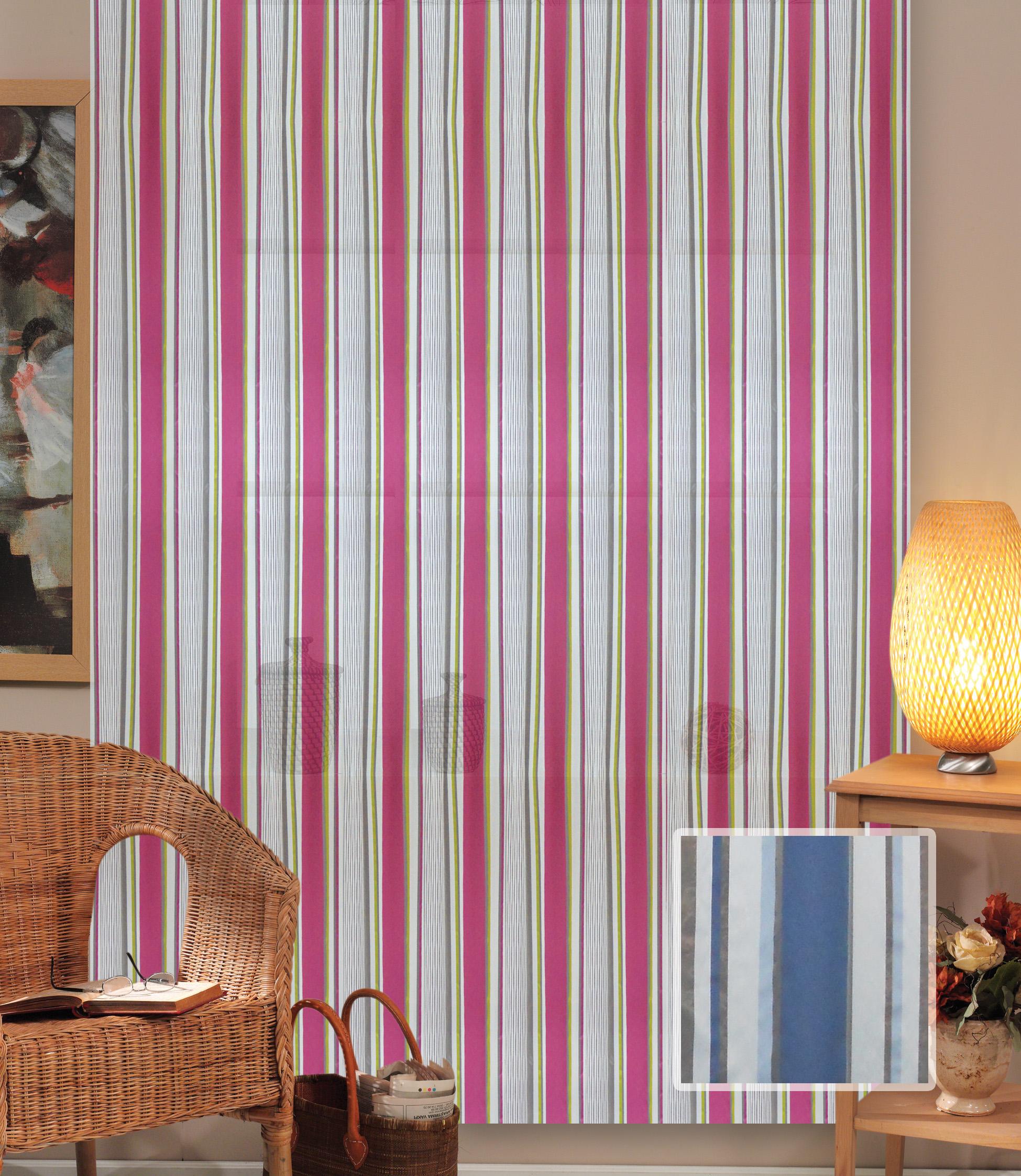 Шторы Miranda Классические шторы Полоска Цвет: Синий шторы primavera классические шторы maev цвет персиковый