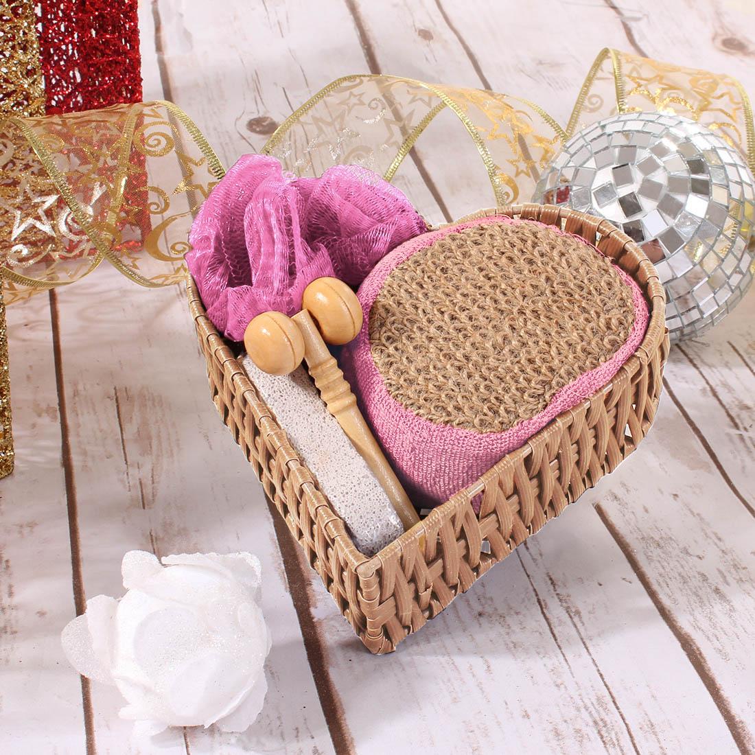 купить {} Eleganta Набор для ванной Nic Цвет: Розовый (Универсальный) по цене 550 рублей