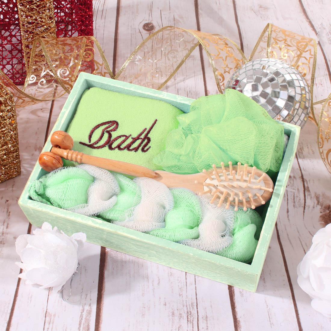 {} Eleganta Набор для ванной Ballard Цвет: Зеленый (Универсальный) simba набор погремушек цвет красный зеленый 3 шт