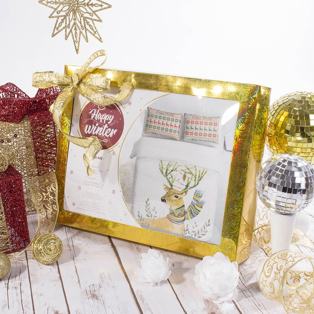 Постельное белье Peach Постельное белье Jingle Bells (2 сп. евро)