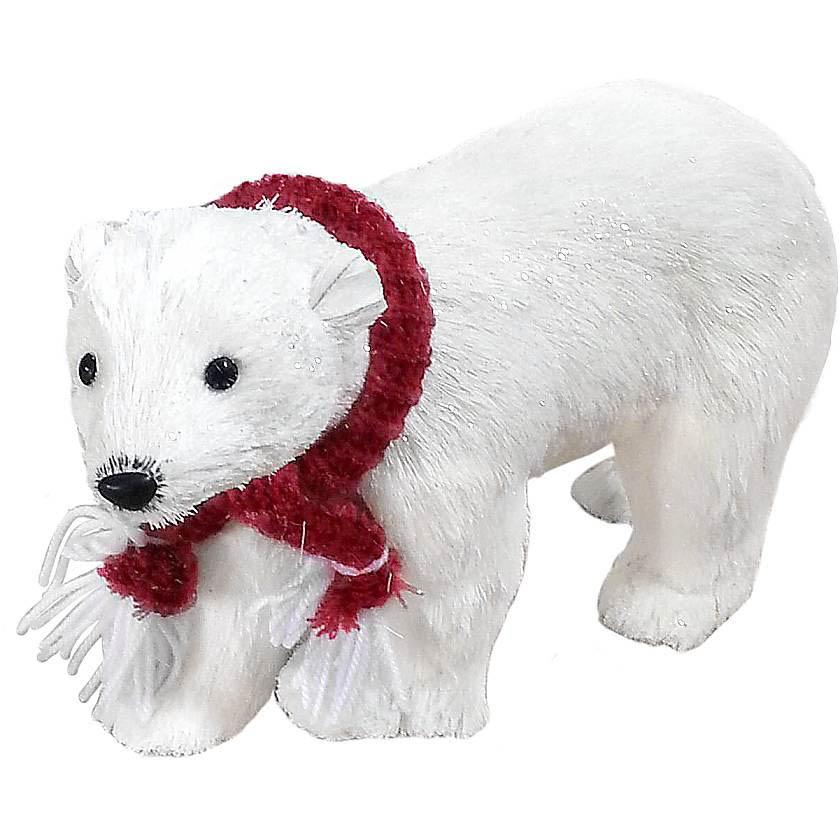 {} Декоративное украшение Медведь Цвет: Белый